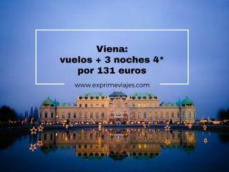 viena vuelos 3 noches 4* 131 euros