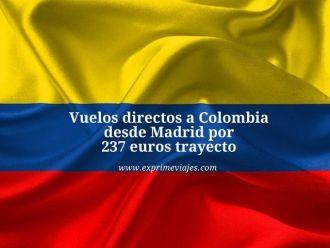 COLOMBIA vuelos directos 237 euros trayecto madrid