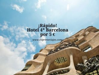 barcelona tarifa error hotel 4* 5 euros