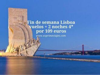 fin de semana Lisboa vuelos + 2 noches por 109 euros