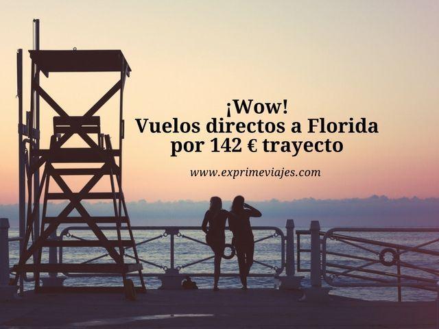 florida vuelos directos 142 euros trayecto
