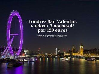 londres san valentin vuelos + 3 noches 4* por 129 euros