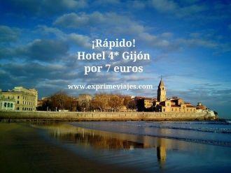 ¡Rápido! hotel 4* Gijón por 7 euros