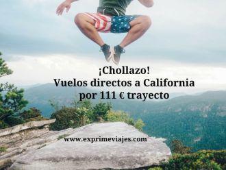 california vuelos 111 euros trayecto