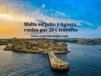 malta julio agosto vuelos 28 euros trayecto