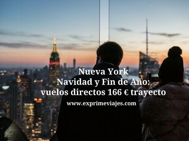 nueva york navidad fin de año vuelos directos 166 euros