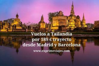 tailandia vuelos 189 euros trayecto