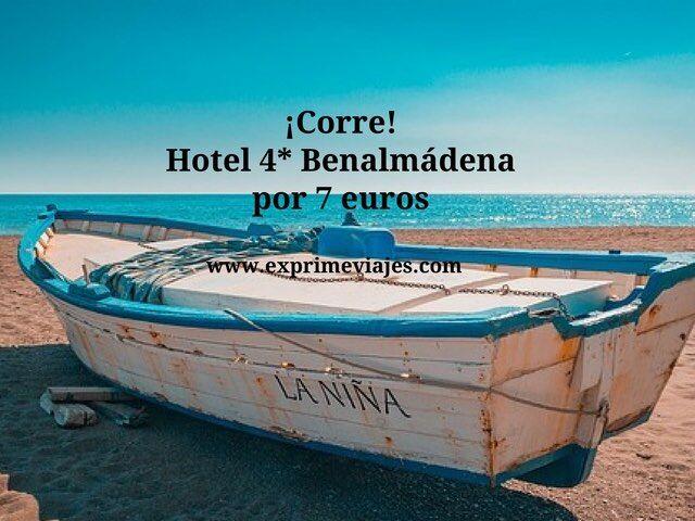 ¡Corre! hotel 4* Benalmadena por 7 euros