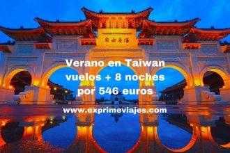 Verano en Taiwan vuelos + 8 noches por 546 euros