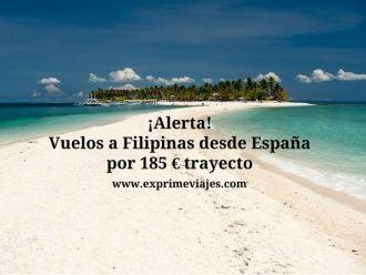 filipinas vuelos desde españa 185 euros trayecto
