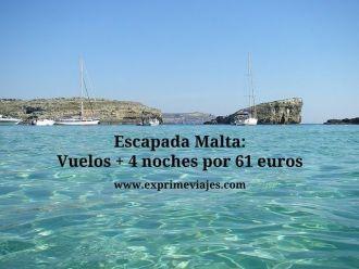 malta vuelos 4 noches 61 euros