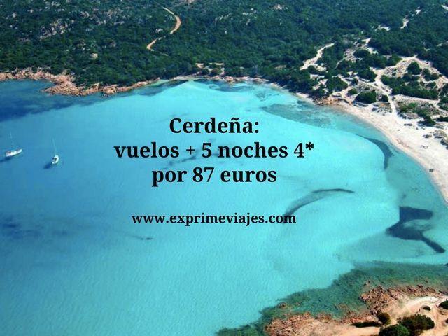 Cerdeña vuelos + 5 noches 4* por 87 euros