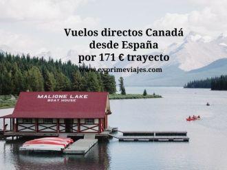 Vuelos directos Canadá desde España por 171 € trayecto