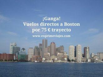 boston vuelos directos 75 euros trayecto