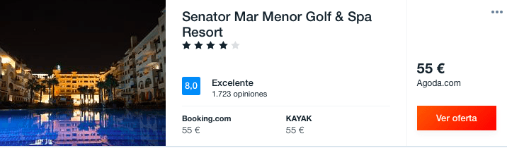 MAR MENOR JULIO: RESORT SPA 4* POR 27 EUROS
