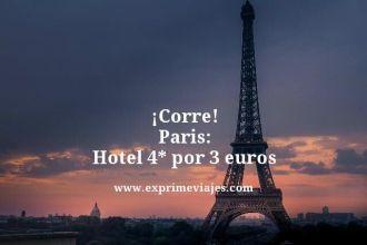 tarifa error parís hotel 4 estrellas 3 euros