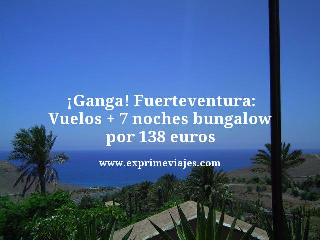 ganga fuerteventura vuelos 7 noches bungalow 138 euros