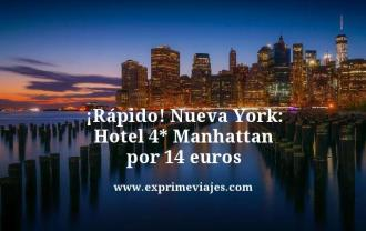 Rapido Nueva York hotel 4 estrellas Manhattan por 14 euros