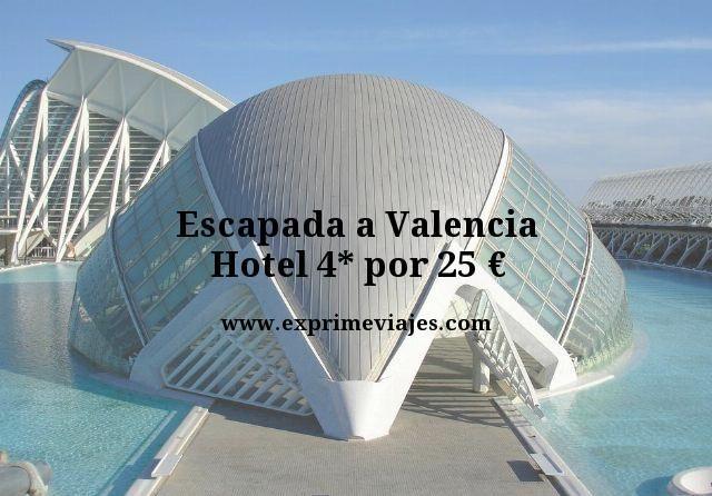 Escapada a Valencia hotel 4 estrellas por 25 euros