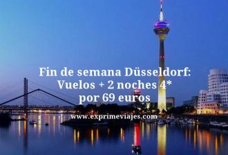 Fin de semana Dusseldorf vuelos mas 2 noches 4 estrellas por 69 euros