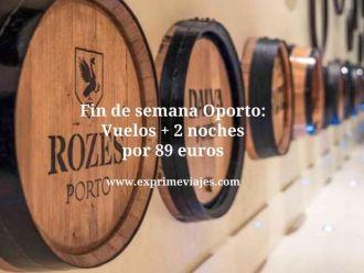 Fin de semana Oporto vuelos + 2 noches por 89 euros