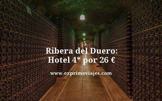 RIBERA DEL DUERO: HOTEL 4* POR 26EUROS