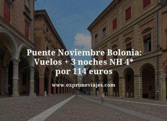 puente noviembre bolonia vuelos + 3 noches nh 4 estrellas por 114 euros