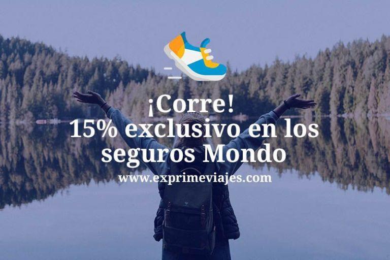 ¡Corre! 15% de descuento en cualquier seguro de viaje Mondo