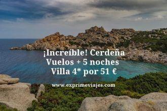 increíble Cerdeña vuelos + 5 noches villa 4 estrellas por 51 euros