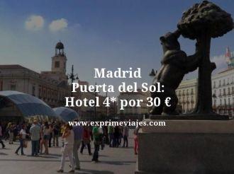 madrid puerta del sol hotel 4 estrellas por 30 euros