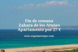fin de semana Zahara de los atunes apartamento por 27 euros