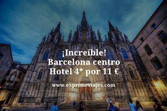 increíble barcelona centro hotel 4 estrellas por 11 euros