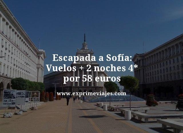 ESCAPADA A SOFÍA: VUELOS + 2 NOCHES 4* POR 58EUROS