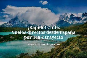 rapido chile vuelos directos desde España por 148 euros trayecto