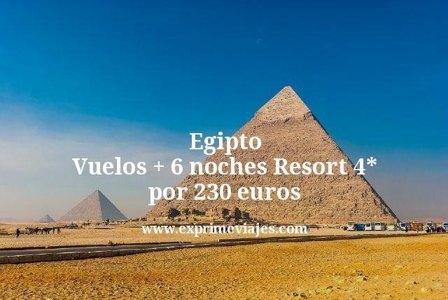 ¡Chollo! Egipto: Vuelos + 6 noches Resort 4* por 230euros