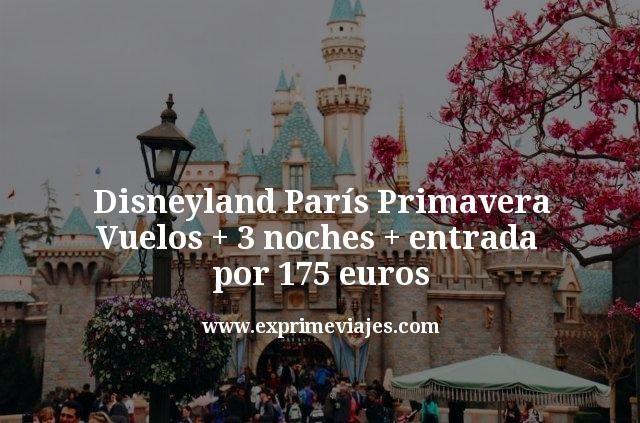 Disneyland París Primavera Vuelos mas 3 noches mas entrada por 175 euros