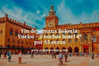 Fin de semana Bolonia Vuelos mas 2 noches hotel 4 estrellas por 85 euros