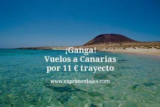 Ganga Vuelos a Canarias por 11 euros trayecto