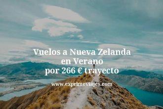 Vuelos a Nueva Zelanda en Verano por 266 euros trayecto