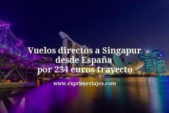 Vuelos directos a Singapur desde España por 234 euros trayecto