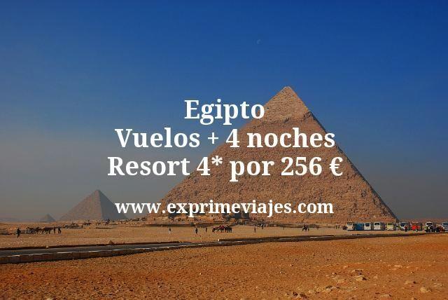 Egipto Vuelos mas 4 noches Resort 4 estrellas por 256 euros