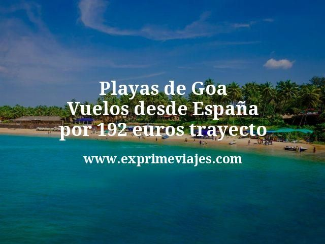 Playas de Goa Vuelos desde España por 192 euros trayecto