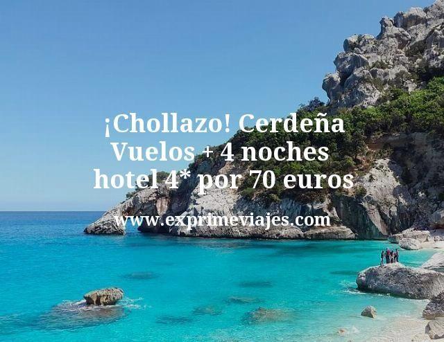 Chollazo Cerdena Vuelos mas 4 noches hotel 4 estrellas por 70 euros