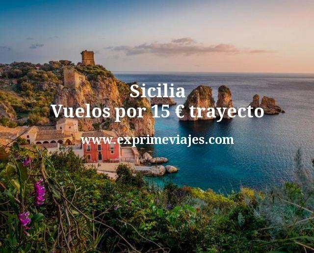 sicilia vuelos por 15 euros trayecto