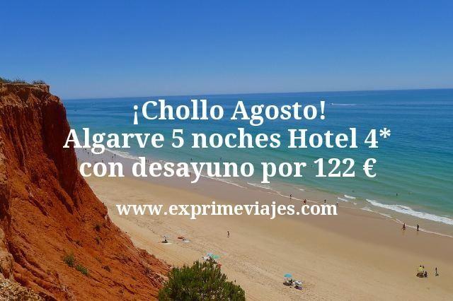 ¡Chollo! Agosto en Algarve: 5 noches 4* con desayuno por 122euros