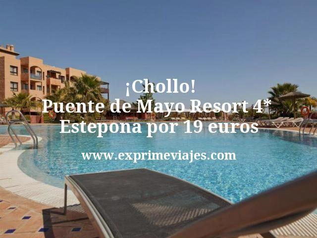 Chollo Puente de Mayo Resort 4 estrellas Estepona por 19 euros