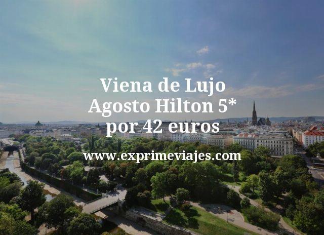 Viena de Lujo Agosto Hilton 5 estrellas por 42 euros
