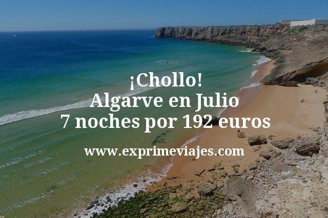 ¡Chollo! Algarve en Julio: 7 noches por 192euros