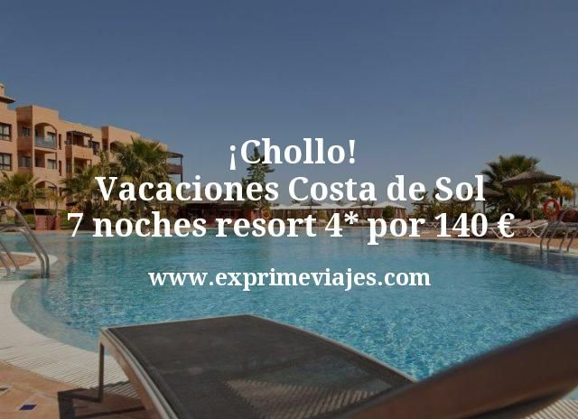 ¡Chollo! Vacaciones Costa de Sol: 7 noches resort 4* por 140 euros