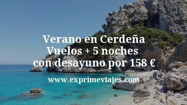 ¡Chollo! Verano en Cerdeña: Vuelos + 5 noches con desayuno por 158euros